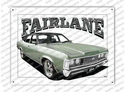 TIN SIGN #0330 x1 TO SUIT BLUE FORD ZH FAIRLANE ENTHUSIAST