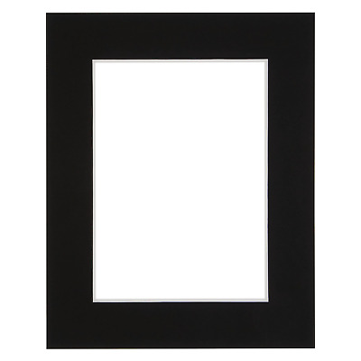 """Black Picture Mount for 8x10"""" Aperature Photo Fastest Delivery on eBay Bevel Cut"""