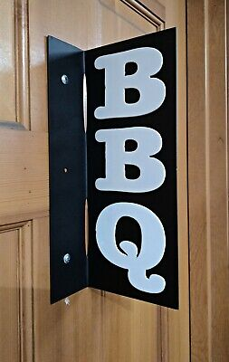 BBQ Sign Double Sided Grilling Man Cave Sign Pit Master Dad Gift Smoked