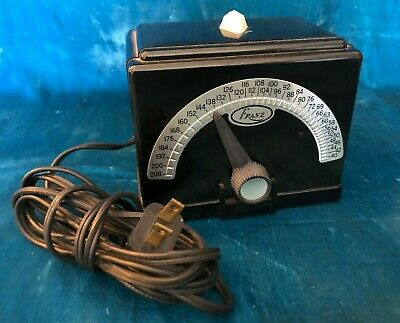 Vintage Franz Electric Metronome Bakelite Lm-Fb-4 Art Deco Style Works Great