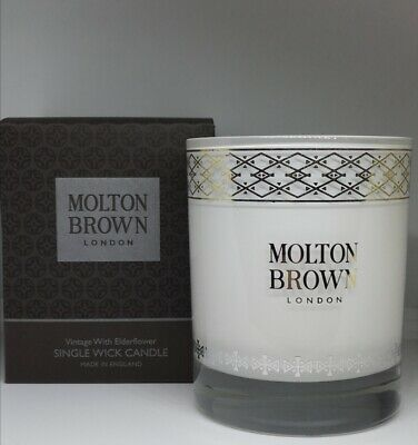 MOLTON BROWN MYRRH MUSK AND CYPRESS SINGLE WICK CANDLE NEW**