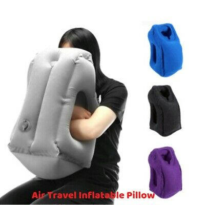 Inflatable Air Travel Pillow Cushion Neck flight Comfortable Support Nap Home S