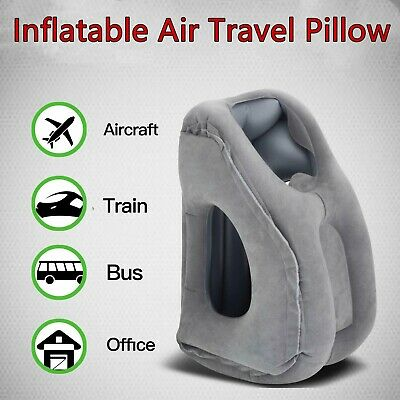 Inflatable Air Travel Pillow Cushion Neck flight Comfortable Support Nap S