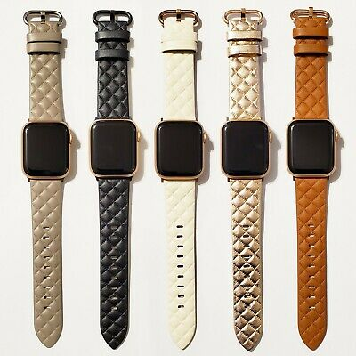 Leather Modern Style Design Band for Apple Watch Series 5, 4, 3, 2, 1  38/40mm