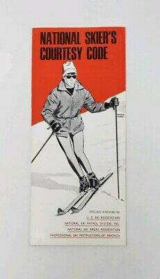 1960s National Skier's Courtesy Code Vintage Brochure - Humble Oil Company