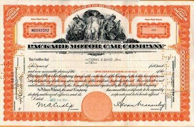 Packard Motor Car Company 1930 Stock Certificate #192597