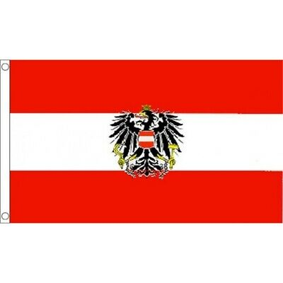 3x5 Austria Flag with Austrian Eagle Banner Pennant Indoor Outdoor New