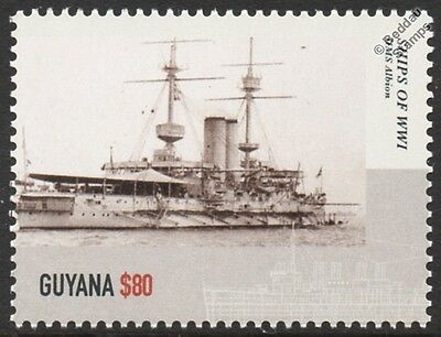 HMS ALBION Canopus-Class Pre-Dreadnought Battleship WWI Royal Navy Warship Stamp