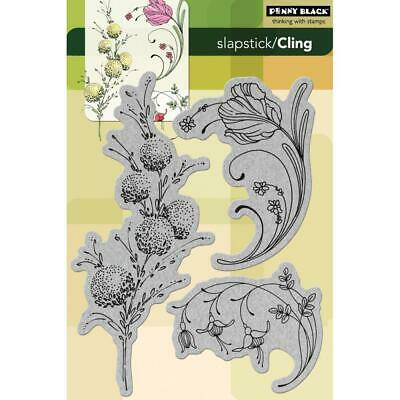 Penny Black Cling Stamps Delicate Florals