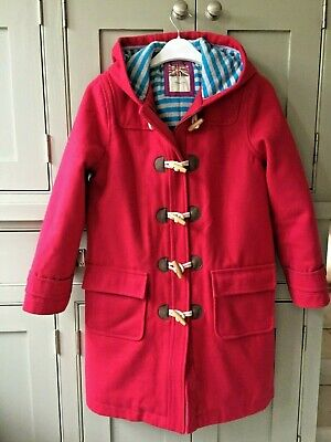 Mini Boden girls age 11-12 woollen duffel winter coat jacket excellent condition