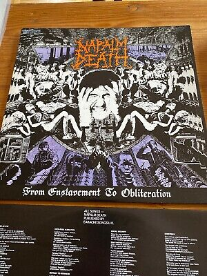 Napalm Death – From Enslavement to Obliteration, LP, 1988, First Press, MOSH 8
