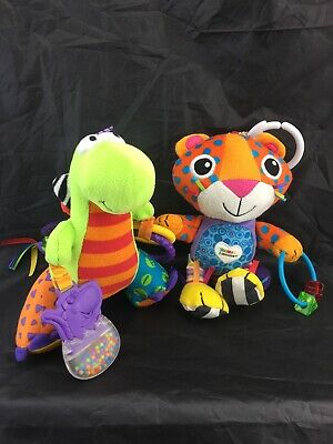 Lamaze *Spike The Dinosaur And *Purring Percival Leopard Clip On Activity Toys.