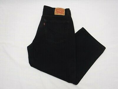 Levis 550 Mens Boys Size 35 X 23.5 Jeans Black Zip Fly Tag 36X32 Hemmed Inseam