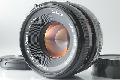 【EXC+4】Canon FD 50mm F/1.8 S.C. SC MF Standard Lens W/ Caps from Japan