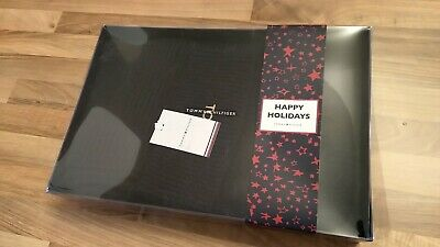 Tommy Hilfiger Hat and Scarf Gift Set - New - Navy Blue