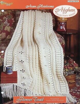 Vintage Memories Aran Afghan TNS Crochet PATTERN//INSTRUCTIONS NEW
