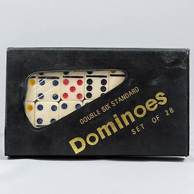 Double Six Standard Dominoes with Black Vinyl Case