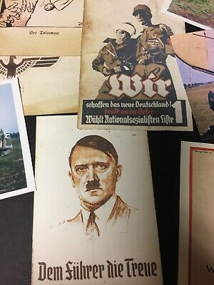 WW2 military reproduction Postcards and Photos Hitler Churchill Me 109 Fw 190