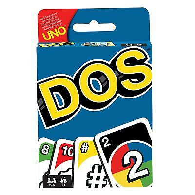 Uno DOS Card Game Colorful Classic Teams Version Mattel