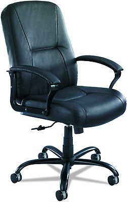 Safco Serenity Big & Tall High-Back Chair, Black Leather up to 500 lbs #0029
