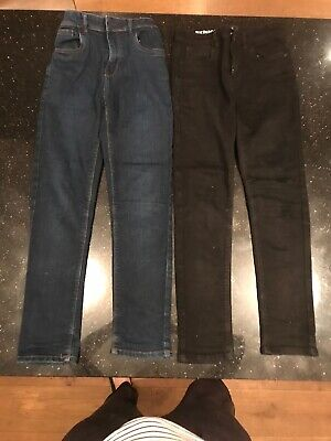 2 Pairs Boys Next Skinny Jeans Age 10-11