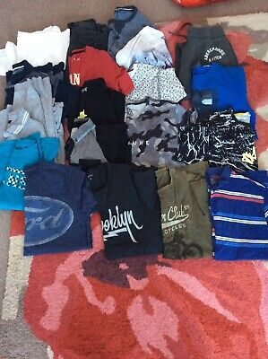 Large Boys Bundle Mixed Clothes Size S 13-14 Yrs X 19 Items