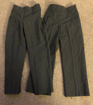 2 Pairs Of Girls School Trousers Aged 4-5