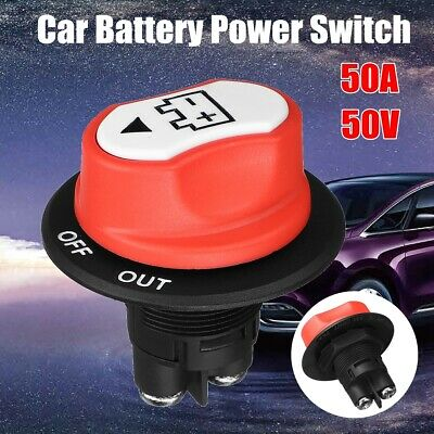 12V 50A Disconnect Battery Isolator Cut Off Kill Switch Key For Car Marine Boat