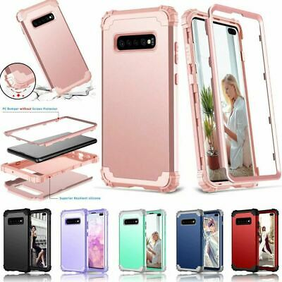 Heavy Duty Hard Back Case Cover Samsung Galaxy S10 & S10+ Rubber Shock