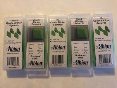 Albion Caulk Slicker Squares 1158-1, 16 shapes/sizes 5 packages 20 total squares
