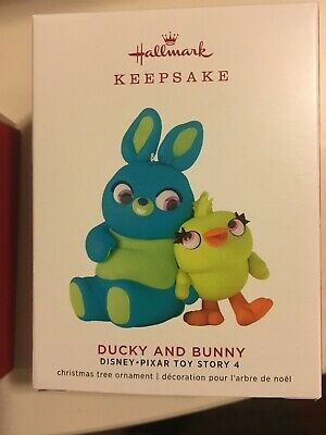 Hallmark 2019 Ducky and Bunny Disney Pixar Toy Story 4 Christmas Ornament