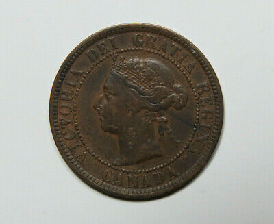 1884 Canada Large Cent Foreign Coin
