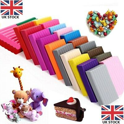 Art Design Moulding block Oven Bake 24 Colors Polymer Clay FREE Sculpey Tool Set