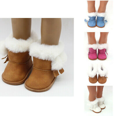 """Girl Doll Boots Winter Glitter Doll Shoes For 18"""" Baby Doll Accessory Girl's Toy"""