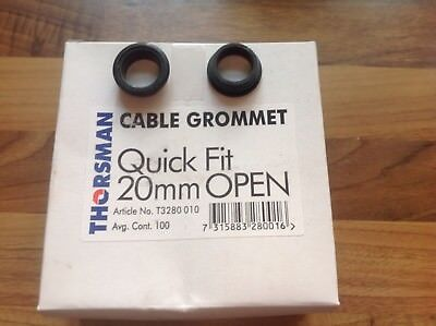1000 THORSMAN QUICK FIT 20mm OPEN GROMMETS 10 BOXES OF 100!!