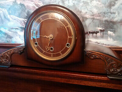 Vintage very large mantel clock Westminster chimes spares/repairs