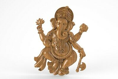 3d STL Model for CNC A041 (Lord_Ganesha) Engraver Carving Machine Relief Artcam