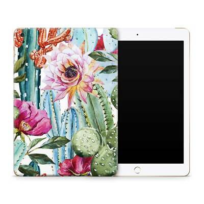 Cactus Flower Premium Vinyl Skin Sticker Decal to Cover Back and Sides of iPad