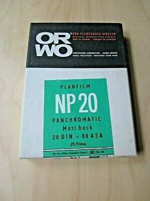 ORWO NP 20 9x12 large cut film format new NOS 1967! Black and white