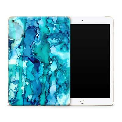 Blue Abstract Premium Vinyl Skin Sticker Decal to Cover Back and Sides of iPad