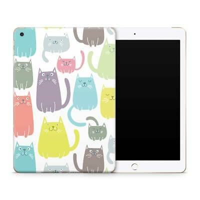Pastel Cats Premium Vinyl Skin Sticker Decal to Cover Back and Sides of iPad