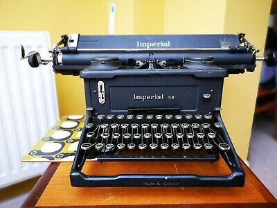 Beautiful And Rare Antique Vintage Imperial 58 Classi Type Writer Free 24Hr Post