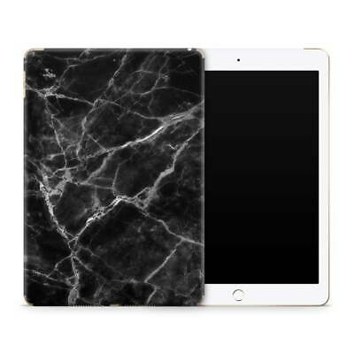 Black Marble Premium Vinyl Skin Sticker Decal to Cover Back and Sides of iPad