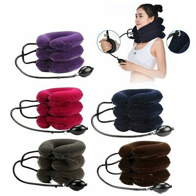 Air Inflatable Neck Pillow Cervical Head Traction pain Relief Stretcher Therapy