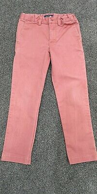 Boys Ralph Lauren Chino Trousers Pink Age 5