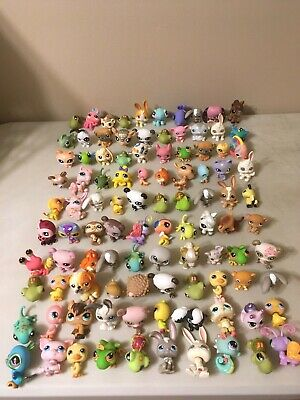 Lot of 100 Littlest Pet Shop Some RARE ONES pigs, insects, horse, bat, and more!