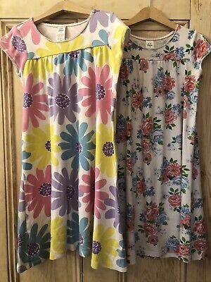 Mini Boden Pair of girls nighties nightdresses floral age 5-6