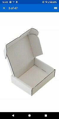 100 WHITE BOXES SHIPPING PACKAGING CARDBOARD CARTON GIFT PARCEL 7x5x2