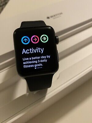Apple Watch Series 3 42mm Space Grey Aluminium Case with Black Sport Band (GPS)