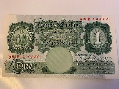 """Bank of England £1 Banknote """"Beale"""" (1949 - 1955) UNC"""